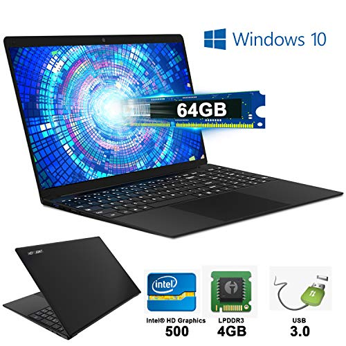 Notebook Portatile 4 GB RAM & 64 GB Memoria Windows 10 PC Portatile WI-FI 2.3Ghz Laptop PC 1920 x1080 IPS 14,1 ' Display Bluetooth WI-FI