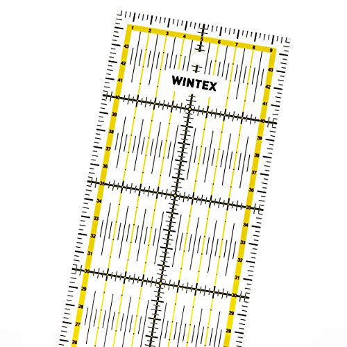 WINTEX Universal Transparent Ruler - Rotary Cutter Ruler Patchwork Ruler Craft Ruler - Ideal for Sewing and Crafts 10x45cm