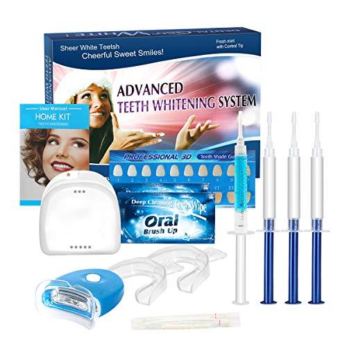 Kit de Blanqueamiento de Dientes, iFanze Blanqueador Dental Profesional, dientes blancos, dientes blancos white, dientes blancos led, dientes blancos luz, reducir manchas dientes