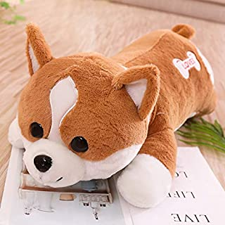 WOIA 60-120Cm Big Cute Corgi Dog Plush Toys Soft I Fat Buttock Animal Cartoon Dog Sofa Pillow Lovely for Kids Must Have Items 2 Year Old Girl Gifts My Favourite Superhero Dream