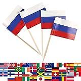 JBCD 100 Pcs Russia Flag Tooth...