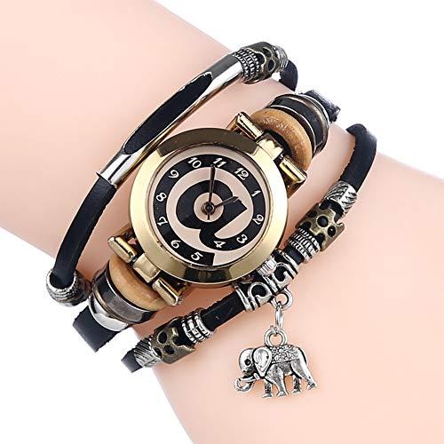 Gskj Vrouwen Horloge Lederen Armband Horloge Handleiding Voorbereid Door Winding Geschikt voor Mevrouw Mannen Student Paar Horloge