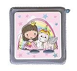 MeinBaby123 Schutzfolie für Toniebox   Schutzcover selbstklebend   Aufkleber passgenau   Folie Sticker   Toniebox Zubehör   Süße Fee und Einhorn rosa