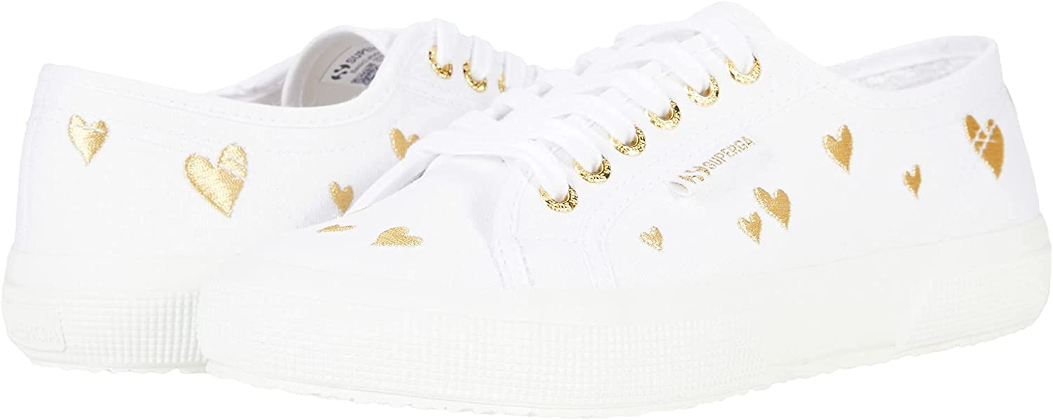 Superga Women's 2750-Cotwembroiderylamehearts Complete security Free Shipping Sneaker