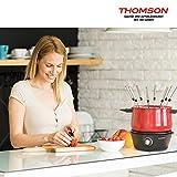 THOMSON Fondue Set elektrisch (8 Personen) - Fondue elektrisch für Fleischfondue, Käsefondue & Schokoladenfondue, Fondueset mit Antihaft-Beschichtung, inkl. 8 Gabeln - 3