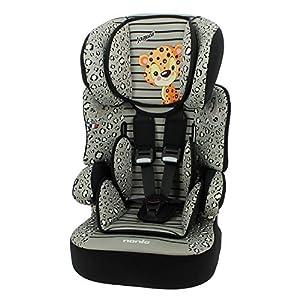 Mycarsit - Asiento elevador para niños (para automóvil) - Grupo 1/2/3 (para niños de 9 a 36 kg, con diseño de jaguar