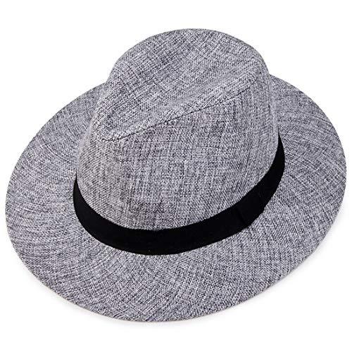 Rhc I Cappelli Estivi da Uomo Ma Daping Lungo i Berretti Antivento della Visiera da Uomo di Mezza età (Color : Gray)