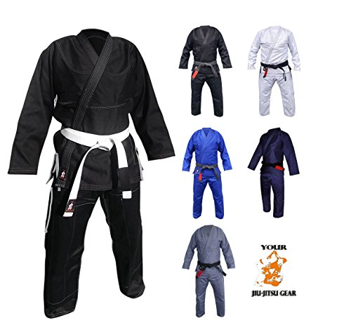 Your Jiu Jitsu Gear Brazilian Jiu Jitsu Premium 450 Uniform A2 Black with Contrast