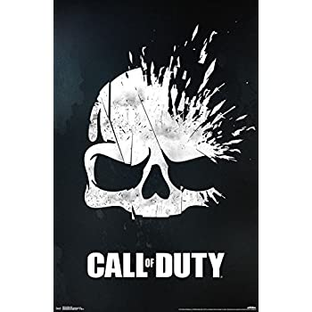Amazon Com Trends International Call Of Duty Skull 22 375 X