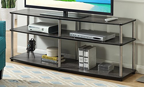"Convenience Concepts Designs2Go 3 Tier 60"" TV Stand, Weathered Gray"