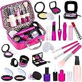 TEPSMIGO Pretend Makeup Kit for Girls, Kids Pretend Play Makeup Set - with Cosmetic Bag for Birthday Christmas, Toy...