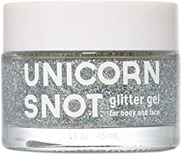 Unicorn Snot Holographic Body Glitter Gel - Vegan & Cruelty Free - Gift - Festival - Rave - Costume - Halloween - Silver, 1.6oz