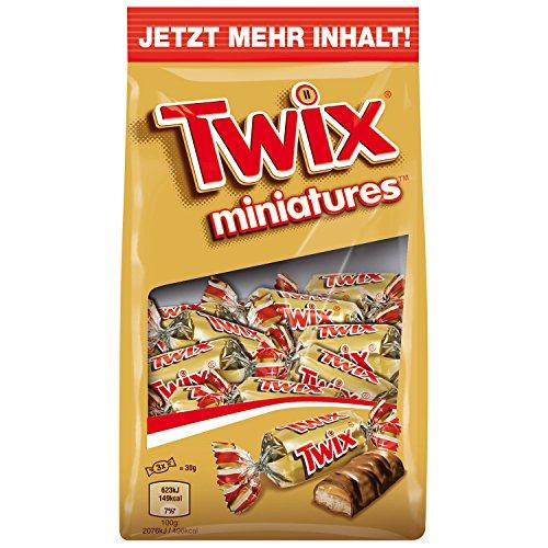 Twix Schokoriegel, Miniatures, Keks, Eine Packung (1 x 150 g)