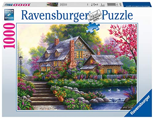 Ravensburger Puzzle 15184 - Romantisches Cottage - 1000 Teile Puzzle für Erwachsene und Kinder ab 14 Jahren