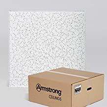 Armstrong Ceiling Tiles; 2x2 Ceiling Tiles - Acoustic Ceilings for Suspended Ceiling Grid; Drop Ceiling Tiles Direct from the Manufacturer; CORTEGA Item 704 – 16 pc White Tegular