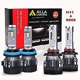 ALLA Lighting S-HCR H11 9005 LED Bulbs Combo Kits Extreme...