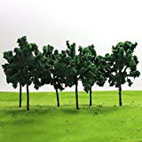 D11054 20PCS Model Trees-11cm/4.33 inch G HO Scale Train Layout Iron Wire Trees,Diorama Supplies, Railroad Scenery, Fake Trees for Projects, Woodland Scenery for DIY Crafts or Building Model New