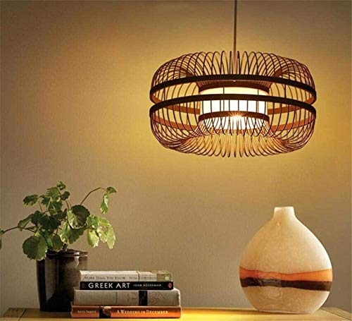 Office kroonluchter Chinese klassieke stijl Creative Wood Handmade Lattice Rieten Rotan Bamboe Plafond Kroonluchter hanglamp Onderzoek kamer kroonluchter