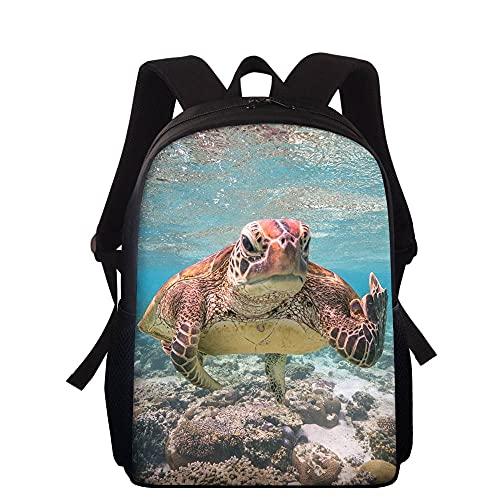 huobeibei Animal tortuga niños mochilas escolares niños perro mochilas escolares mochila primaria para niños niñas mochilas escolares de dibujos animados 15 pulgadas 4