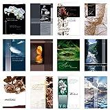 12 Stück Set Trauerkarten Beileidskarten Kondolenzkarten mit Umschlag, Klappkarten 17 x 12 cm (nicht das kleinere A6 Format)