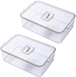LLRZ Boite Alimentaire Conteneur de Stockage de Nourriture avec couvercles contenants de congélateur Portables empilables ...