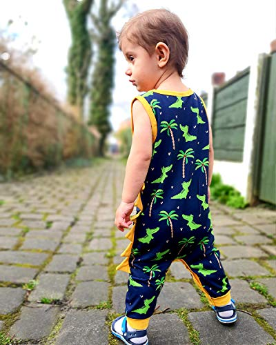 SANMIO Conjunto de Pijama para Niños Impresión de Dinosaurio Sin Mangas Bebés Niños pequeños Pajamas 0-18 Meses