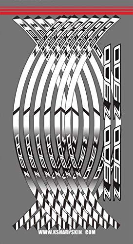12 tiras adhesivas para llanta de moto con borde grueso para Z900