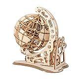 VOSAREA Ingranaggi Meccanici in Legno 3D Puzzle Assemblaggio Puzzle Mondo Globo Modello Ingegneria Giocattoli per Adolescenti Decorazione della Casa