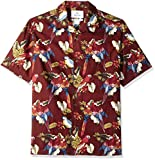 Amazon Brand - 28 Palms Men's Relaxed-Fit 100% Cotton Tropical Hawaiian Shirt, Red Parrot, Large