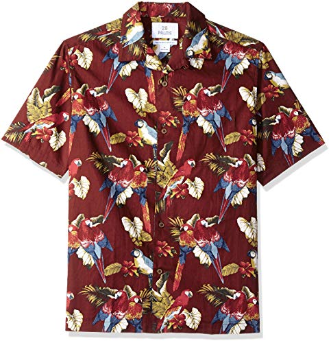 28 Palms Relaxed-Fit 100/% Cotton Tropical Hawaiian Shirt Uomo Marchio