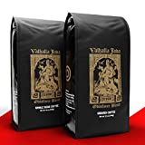 VALHALLA JAVA Odinforce Blend Ground Coffee [12 oz] Bundle with VALHALLA JAVA Odinforce Blend Whole Bean Coffee [12 oz] | USDA Certified Organic, Fair Trade | Arabica and Robusta Beans