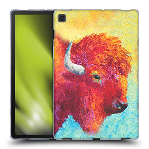 Official Marion Rose Bison Head Iv Bull Soft Gel Case Compatible for Samsung Galaxy Tab S5e