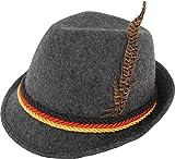 Sombrero con pluma, diseño bávaro