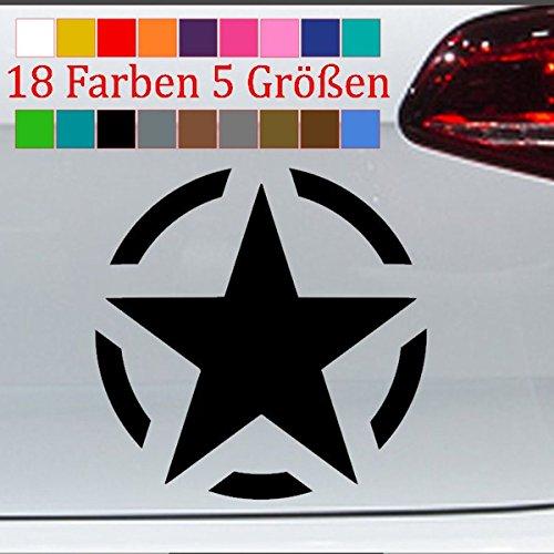 Generic Stern Aufkleber Jeep Army VW Golf GTI Tank Harley OPEL Tuning 18 Farben 5 Größen