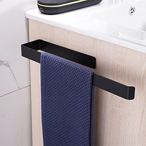 Aikzik Handtuchhalter Ohne Bohren Edelstahl Handtuchstange selbstklebend 304 Edelstahl Wandmontage Bad und Küche 36CM schwarz