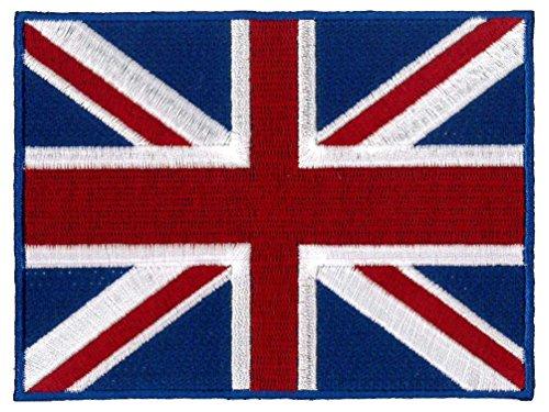 Klicnow Parche de la bandera británica (Gran Bretaña) para la parte trasera grande (20 cm x 15 cm)