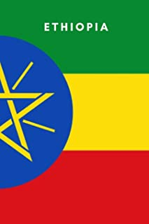Ethiopia: Country Flag A5 Notebook (6 x 9 in) to write in with 120 pages White Paper Journal / Planner / Notepad