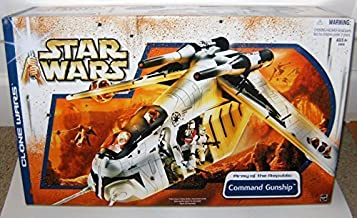 Star Wars REPUBLIC COMMAND GUNSHIP Army of the Republic Clone Wars 2003 by Hasbro