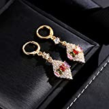 KUANGLANG 925 Silver Natural Crystal Zircon Pendant Earrings Charm Jewelry Carved Amulet Gifts For Her Women