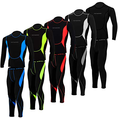 51om07nYWnL. SS500  - ULTRA WEARS Mens Compression Tights + Top T-Shirt Base Layer Armour Gym Trousers Under Suit