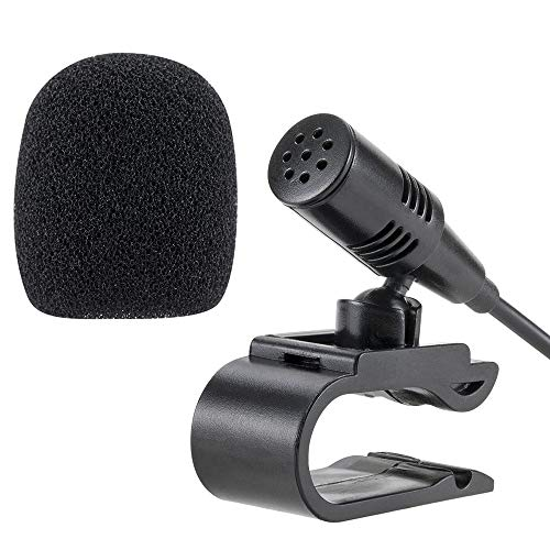 NowTH 3.5mm Car Microphone with 9.85 Feet Cable External Assembly Mic for Vehicle Head Unit Bluetooth Enabled Stereo Radio GPS