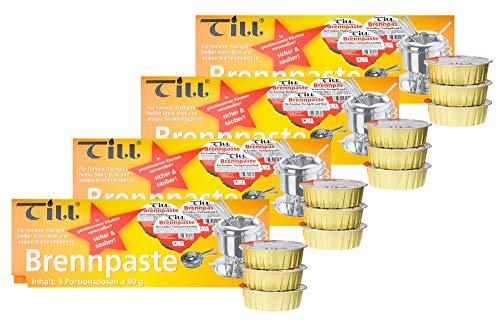 TILL Set di pasta per carburante di sicurezza da 3 a 80 g (4x set da 3 80 g (12 pezzi))