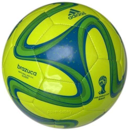Pallone da calcio Adidas Brazuca Glider, WM 2014Brasile calcio, Giallo/Verde/Blu, 5, S04467