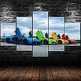 KOPASD 5 Teilig Art Bilder Wandbild Leinwand Lamborghini