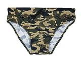 Evoga Costume Slip Uomo Mimetico Militare Verde Casual Shorts Mutandina Piscina Mare (s)
