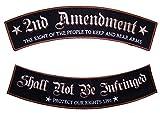 Leather Supreme Patriotic The 2nd Amendment Rights Rocker Set Biker Patch-Gold-Large