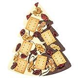 ChocoTannenbaum Duett mit knackigen Zutaten - dekorierte Schokoladentafel in Form eines...