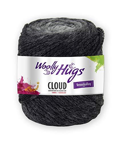 Woolly Hugs Wolle Cloud 185 Anthrazit, Merinowolle Mit Dezentem Degrade Farbverlauf