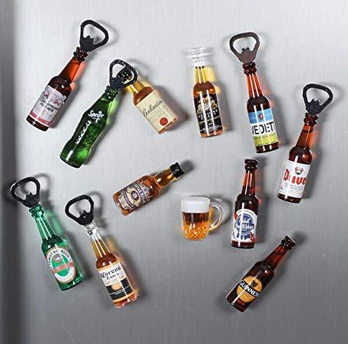 Aliay - 5 imanes multifunción para frigorífico, abridor de botellas de vino de soda, adhesivo de mensaje (estilo aleatorio)