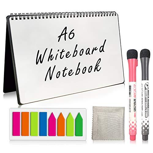 NEWYES cuaderno de pizarra,Cuaderno de borrado en seco, tamaño de nota de pizarra de borrado en seco, A6